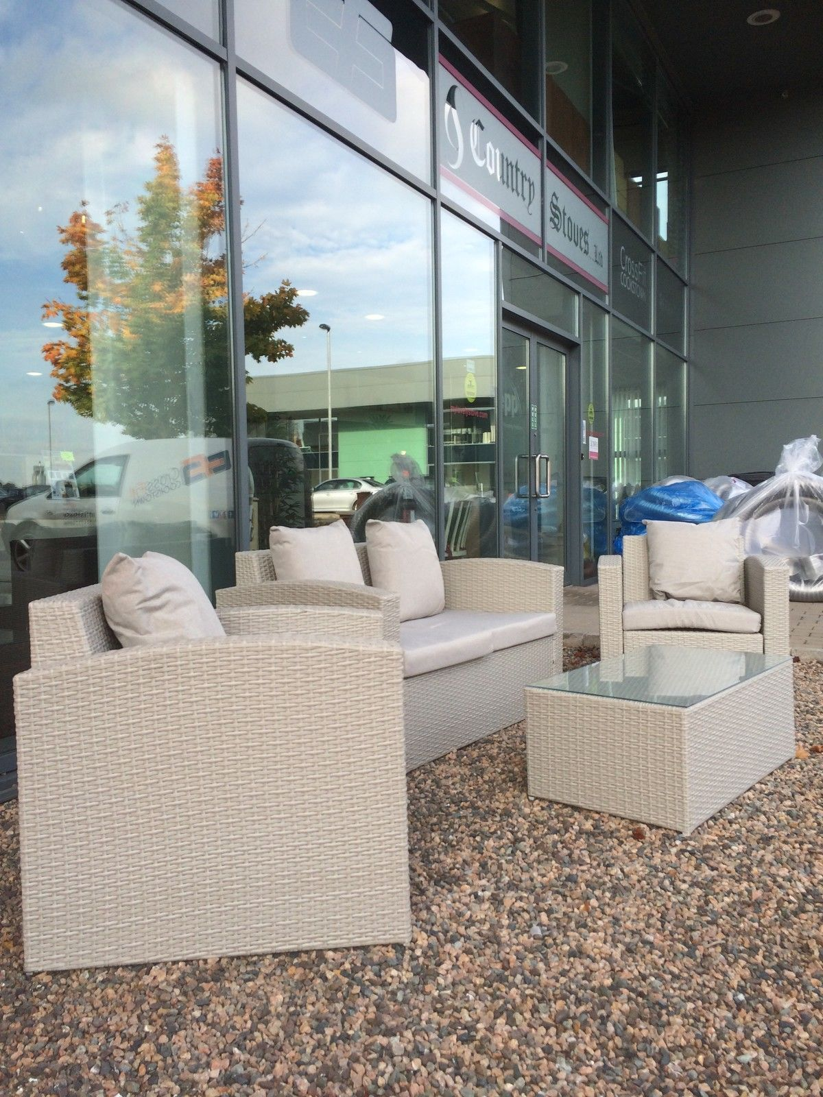 grey rattan deluxe garden furniture set - Garden Furniture Ni